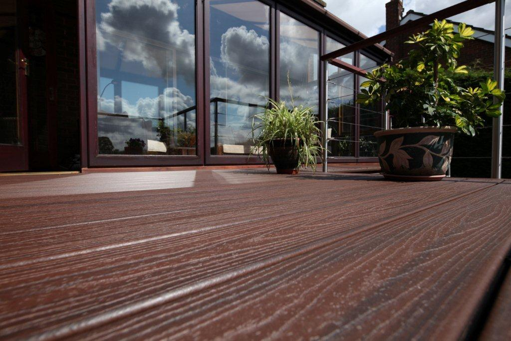 Wooden deck that matches Virginia home