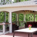 Covered Open Porch with Composite Deck, Lighted Rail