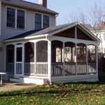 Screened Porch with Composite Deck and Rail Cap