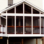 Screened Porch Addition with Dekorator Rail Pickets