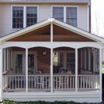 Screened-In Porch with Composite Deck and Rail Cap