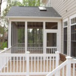 Screened Porch Addition, Trex Deck and PVC Rail