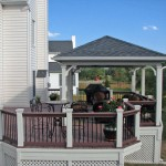 Cabana with Composite Deck and Rail, Lattice