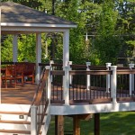 Covered Porch with Composite Deck with Lighted Stairs