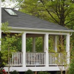 Large Covered Open Porch Addition, Composite Deck and Rail Cap