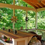 Open Covered Porch with Composite Deck and Rail Cap