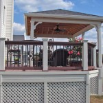 Cabana with Composite Deck and Lattice Panels