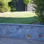 Natural Stone  Walls with Flagstone Wall Caps