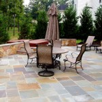 Flagstone Patio with Sitting Wall