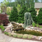 Irregular Flagstone  Patio with Water Feature