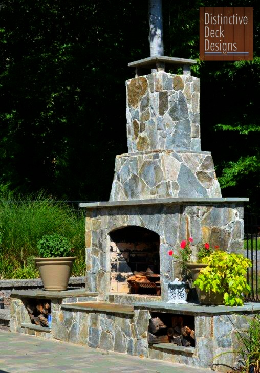 outdoor fire place installation in fairfax county