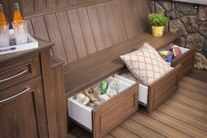 For Under-Deck Conversions, consider installing TREX benches with built-in storage!