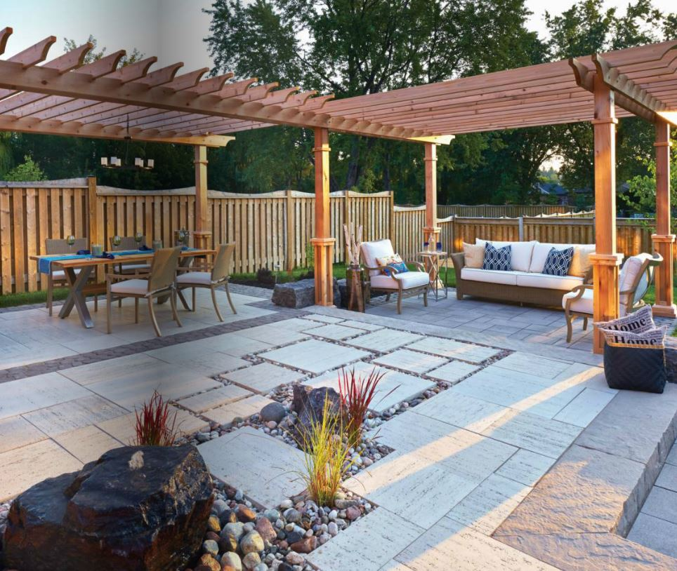 Techo bloc polished casual hardscape products