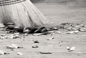 Brushing Away Debris - virigniadeckdeisgns.com - Shutterstock