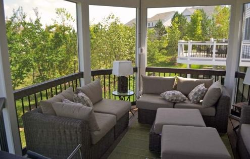Interior View of a Covered Deck or Gazebo - Distinctive Deck Designs
