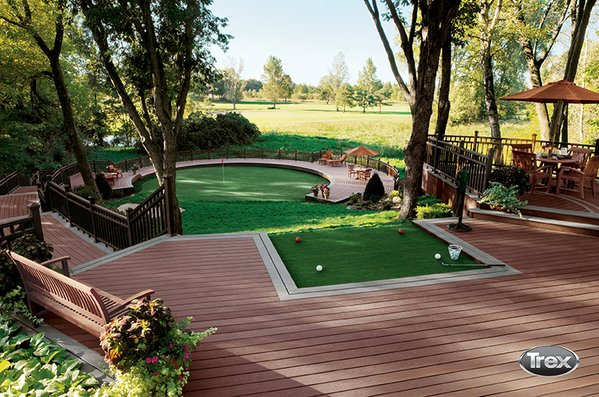 Trex Deck and Putting Green