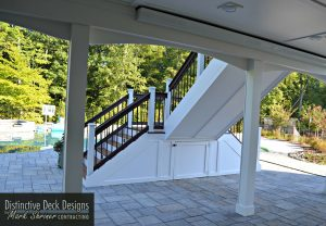 Under Deck Ceiling Panels, Downspouts and Stairs Conversion