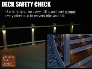 Nighttime deck safety check from Distinctive Deck Designs
