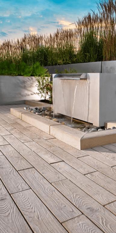 Techo-Bloc Borealis patio wood planks