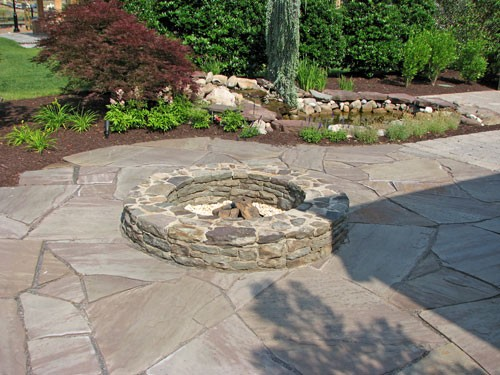 patio made of flagstone