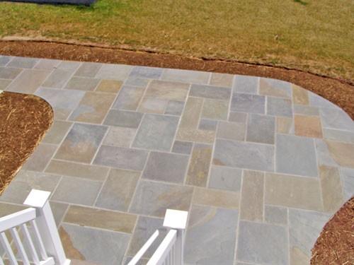patio made with slate