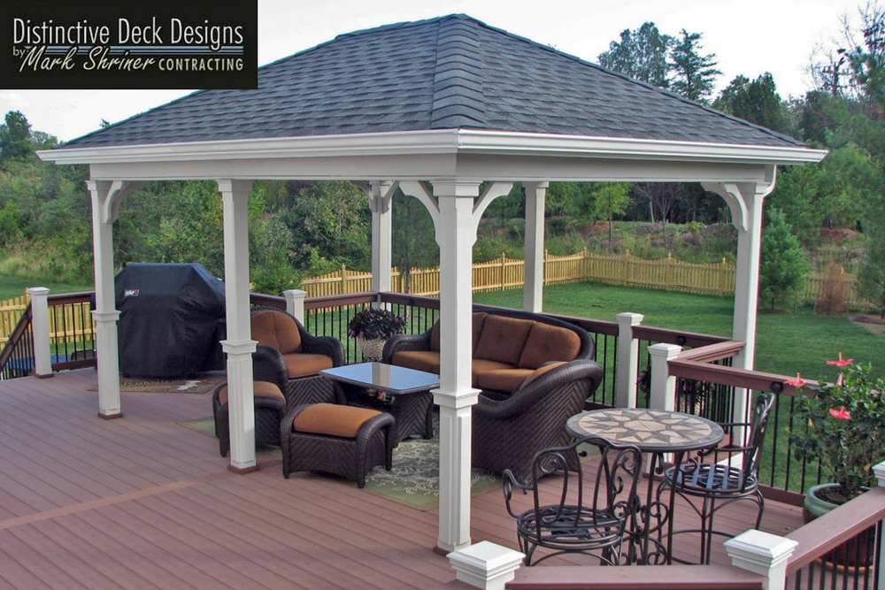 Covered composite deck design in Northern Virginia