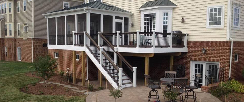 Screen Porches Northern Virginia Distinctive Deck Designs
